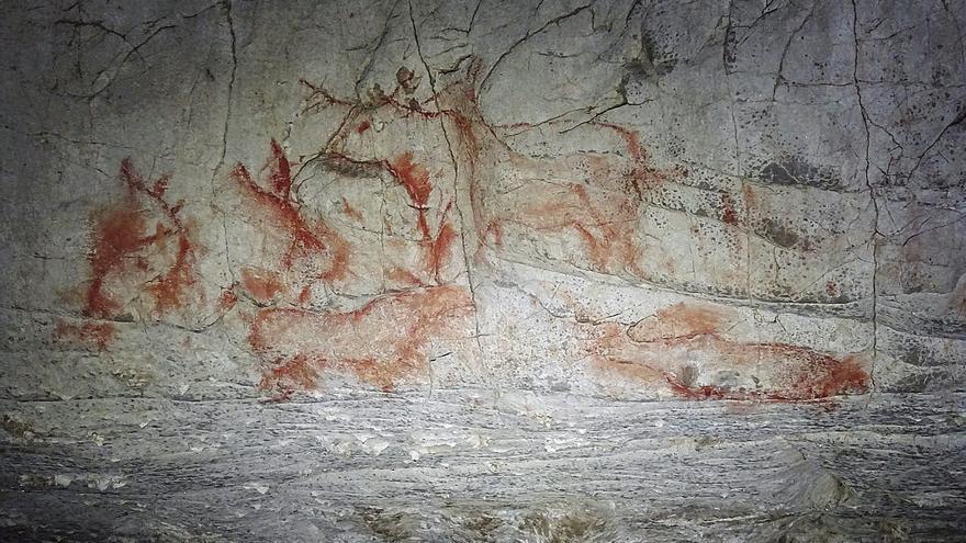 Las pinturas de Cobijeru (Llanes) no son prehistóricas, concluyen los expertos