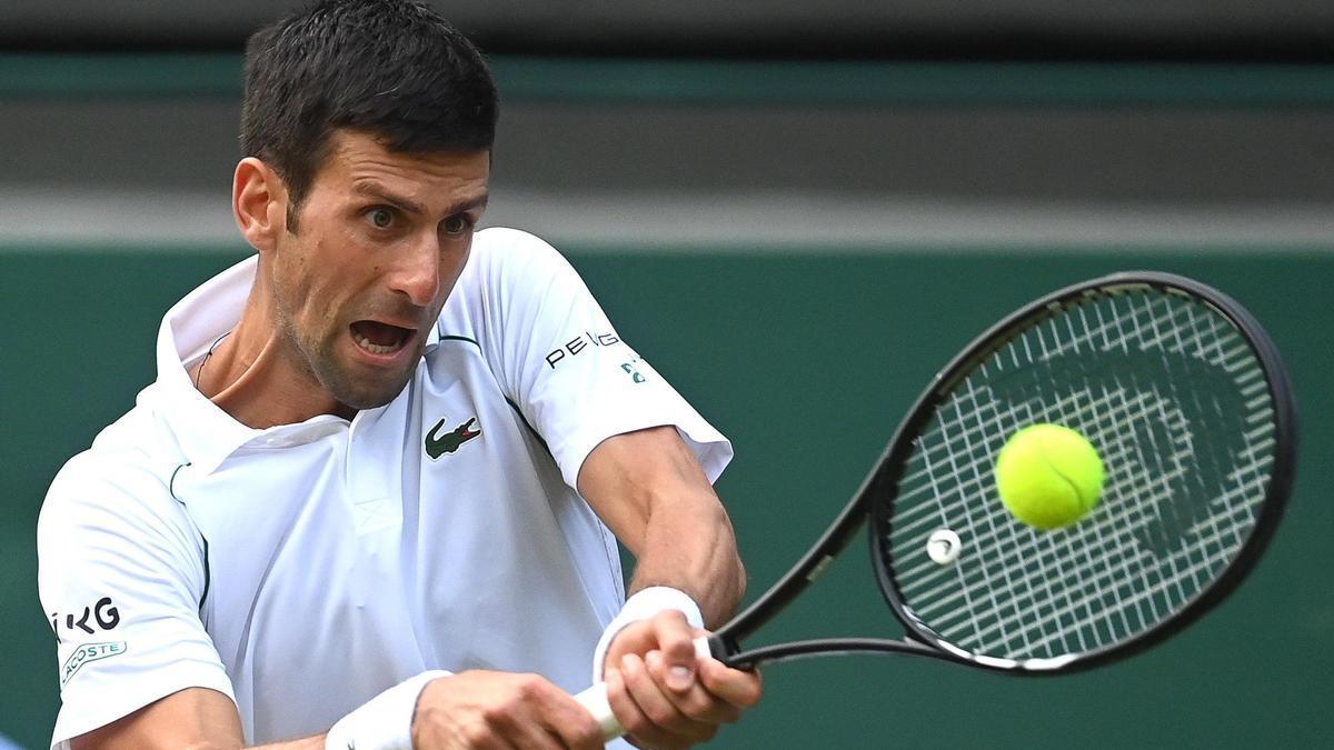 Una imagen de Novak Djokovic.