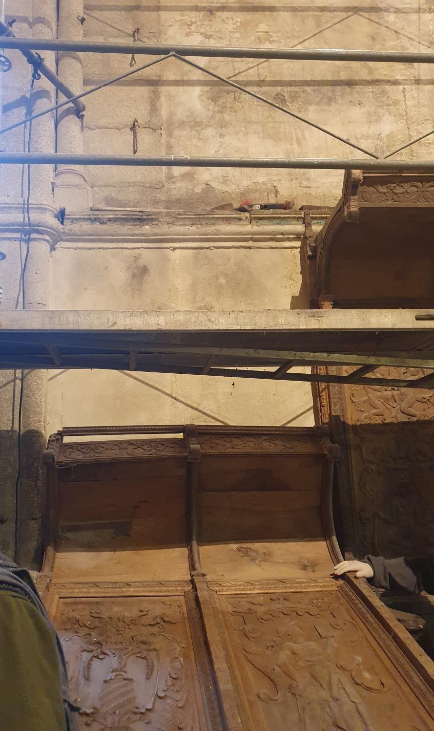 Desmontaje de la silleria