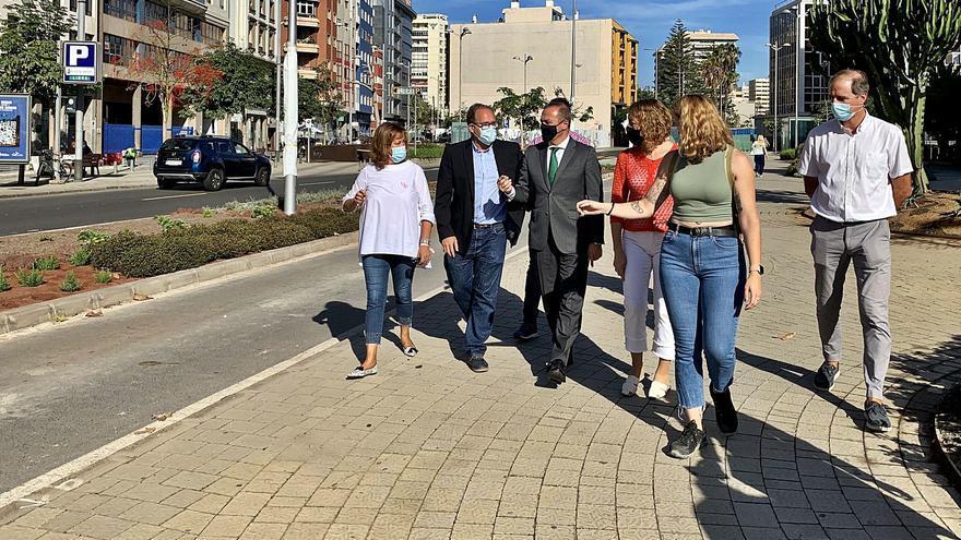 Las obras de la MetroGuagua en el tramo de Venegas alcanzan el 50% de ejecución