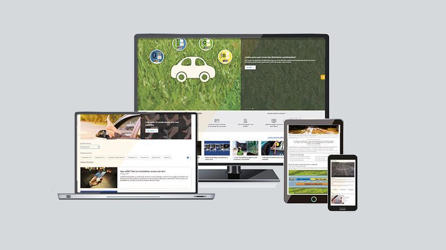 Así es la nueva web de la DGT: 100% renovada y con más secciones y servicios