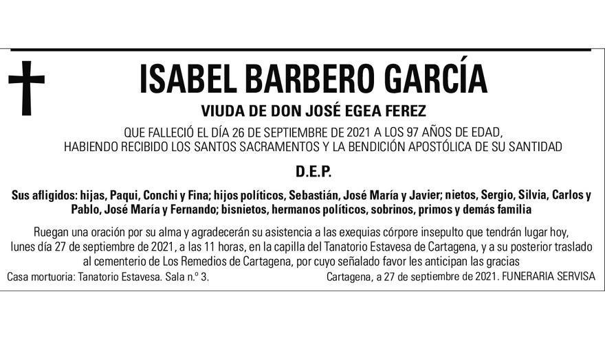 Dª Isabel Barbero García