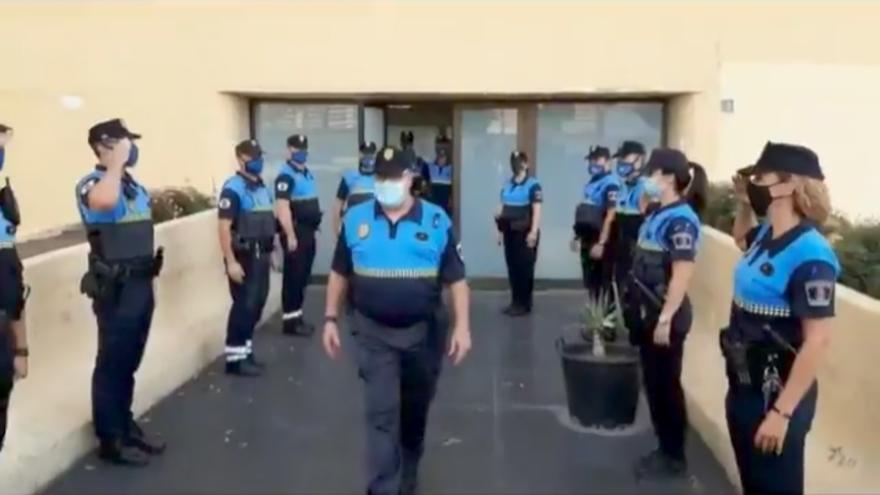 Despedida al Policía Local de Las Palmas de Gran Canaria Juan Marrero por su jubilación