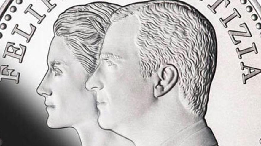 Los Reyes Felipe VI y Letizia ya tienen su primera moneda
