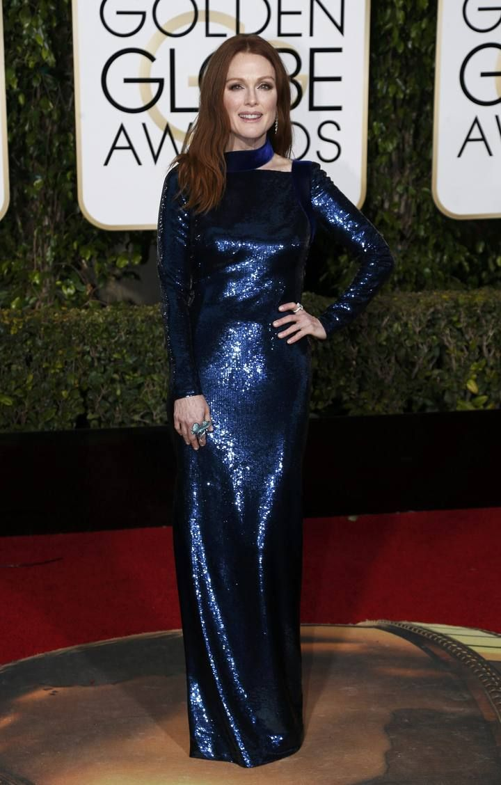 Actress Julianne Moore arrives at the 73rd Golden Globe Awards in Beverly Hills