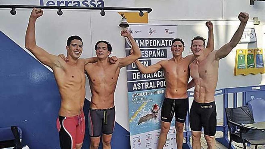 Toni Mulet bate el récord nacional en 4x200 libre  del Campeonato de España