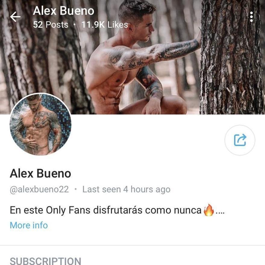 Cuenta de Only Fans de Alex Bueno