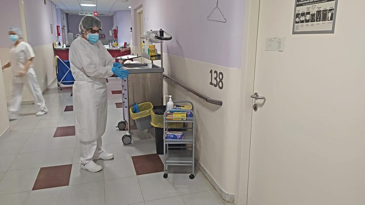 Planta de medicina interna de l'Hospital de Figueres