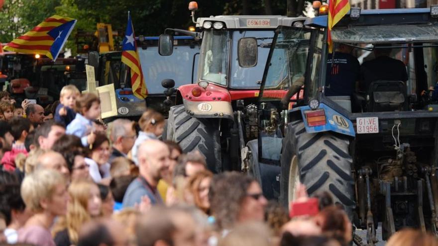 La concentració a la Rambla de Figueres per la vaga general