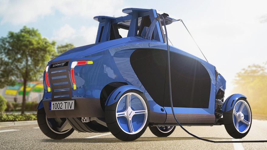 Tecnovelero Virante, el coche eléctrico de hidrógeno de origen español