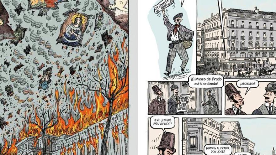 El dibuixant Sento Llobell humanitza el Prado amb les seues vinyetes