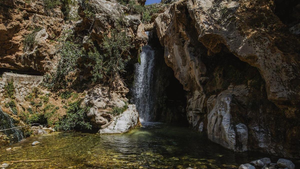 Una de las pozas de la zona conocida como Barranco Blanco.