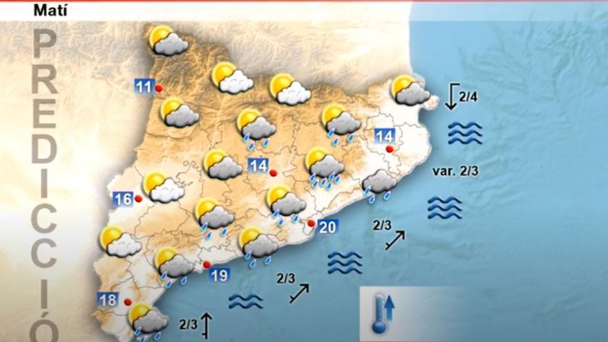 Risc de precipitacions per aquest diumenge a les comarques centrals