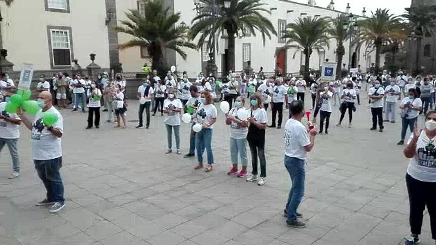 Concentración de protesta de funcionarios municipales