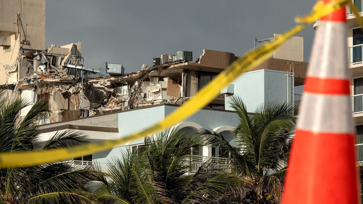 Una imagen del lugar del derrumbe.