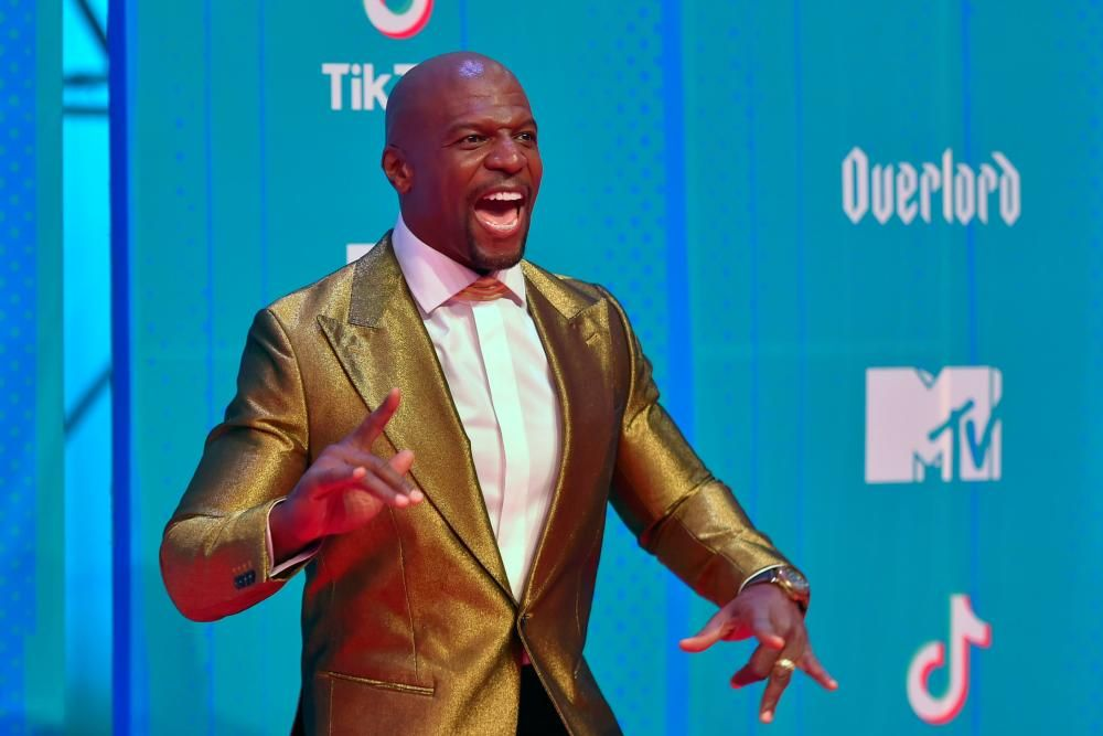 US actor Terry Crews poses on the red carpet ahead of the MTV Europe Music Awards at the Bizkaia Arena in the northern Spanish city of Bilbao on November 4, 2018. (Photo by ANDER GILLENEA / AFP)