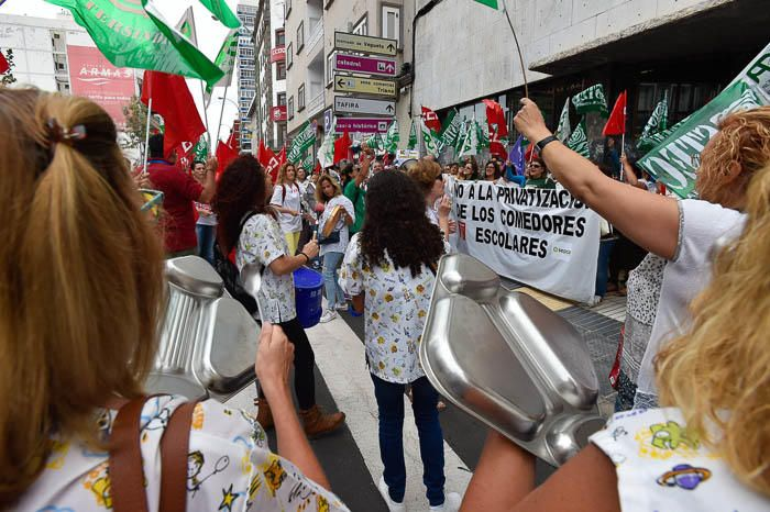 Huelga de trabajadores de los comedores escolares