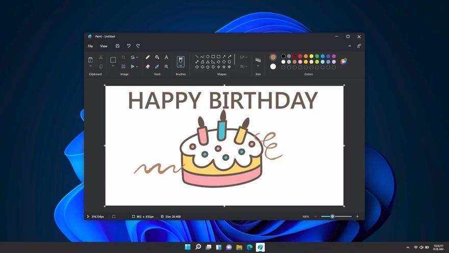 Así será el nuevo Paint de Microsoft, con rediseño y modo oscuro