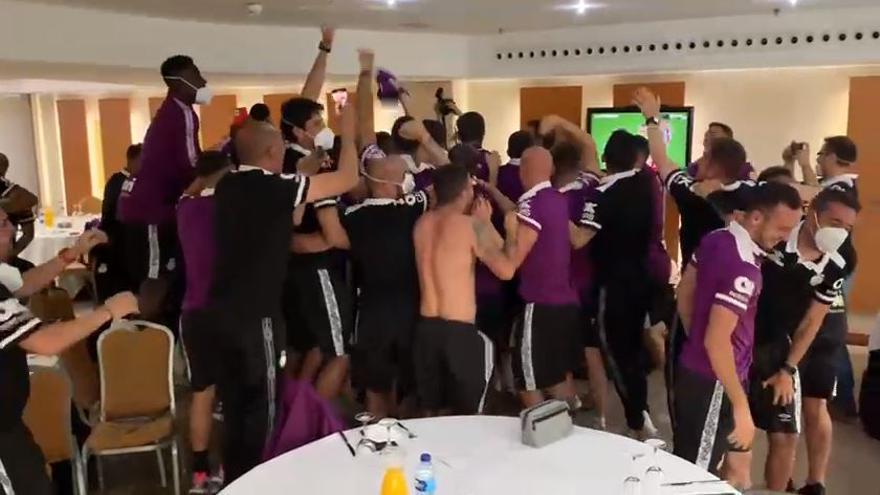Así fue la celebración de los jugadores del Real Mallorca tras ascender a Primera División