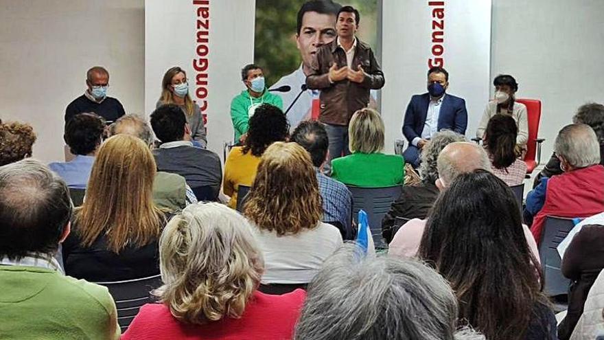 Caballero plantea en Baiona un debate de candidatos del PSdeG