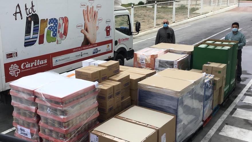 Mercadona dona 4 toneladas de productos de primera necesidad a Cáritas Ibiza