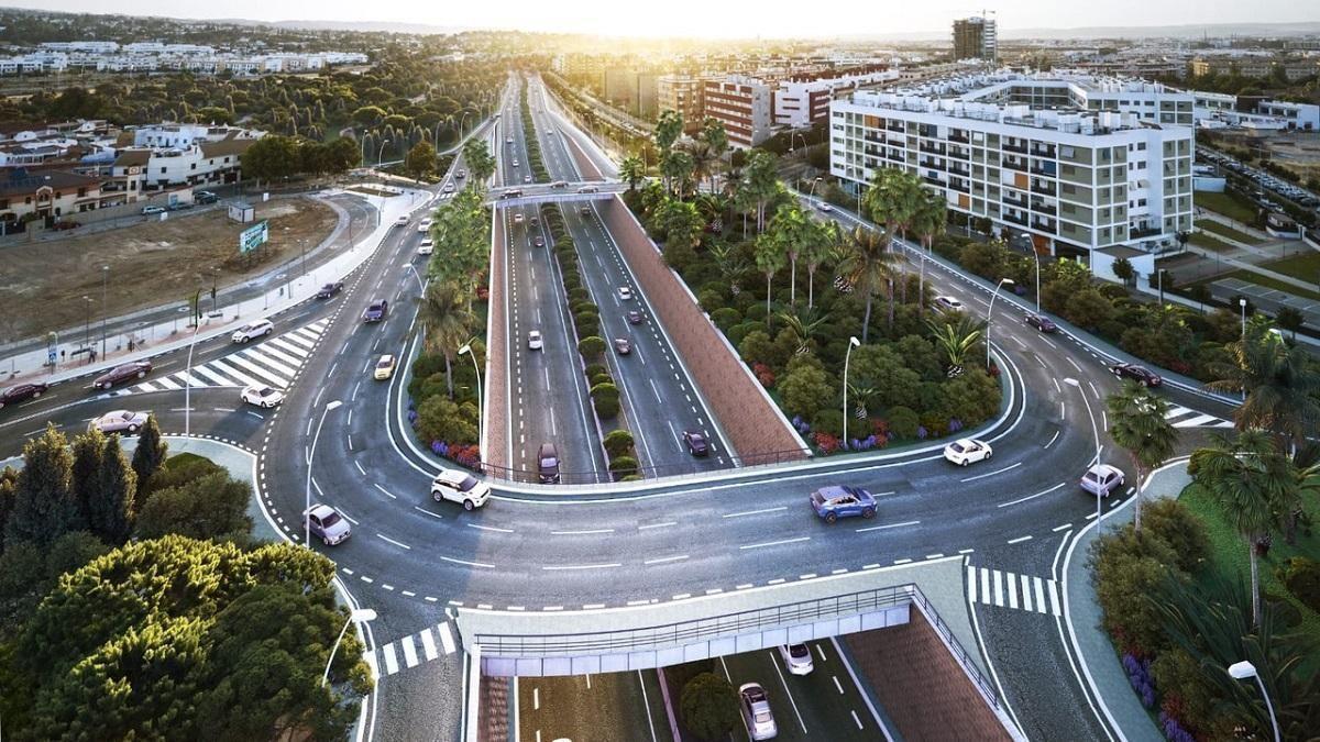 Imagen virtual de la futura ronda Norte en Córdoba.