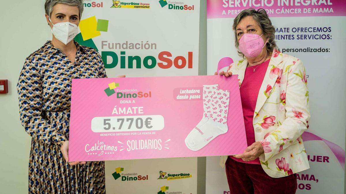 Virginia Ávila, directora de la Fundación DinoSol, y Carmen Bonfante, presidenta de AMATE