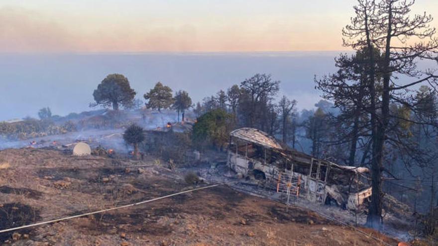 El Gobierno actuará de emergencia en la zona afectada por el incendio de Garafía