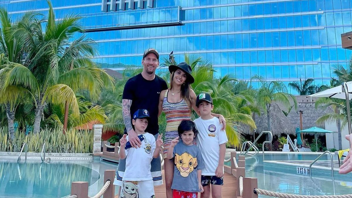 Leo Messi gaudint de les seves vacances a Miami amb la seva família