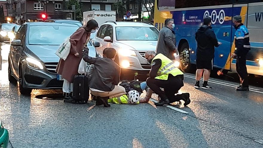 Herida una mujer tras ser arrollada por un coche cuando circulaba con un vehículo especial por General Elorza
