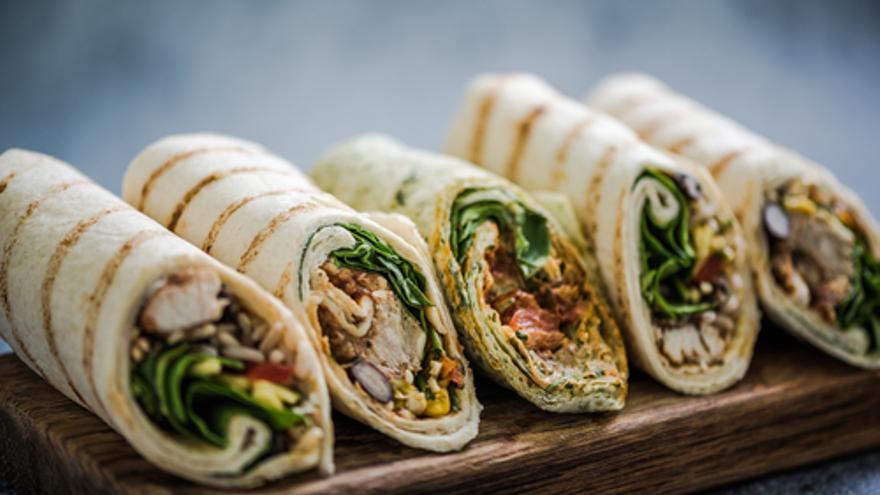 Koreanischer Salat-Wrap