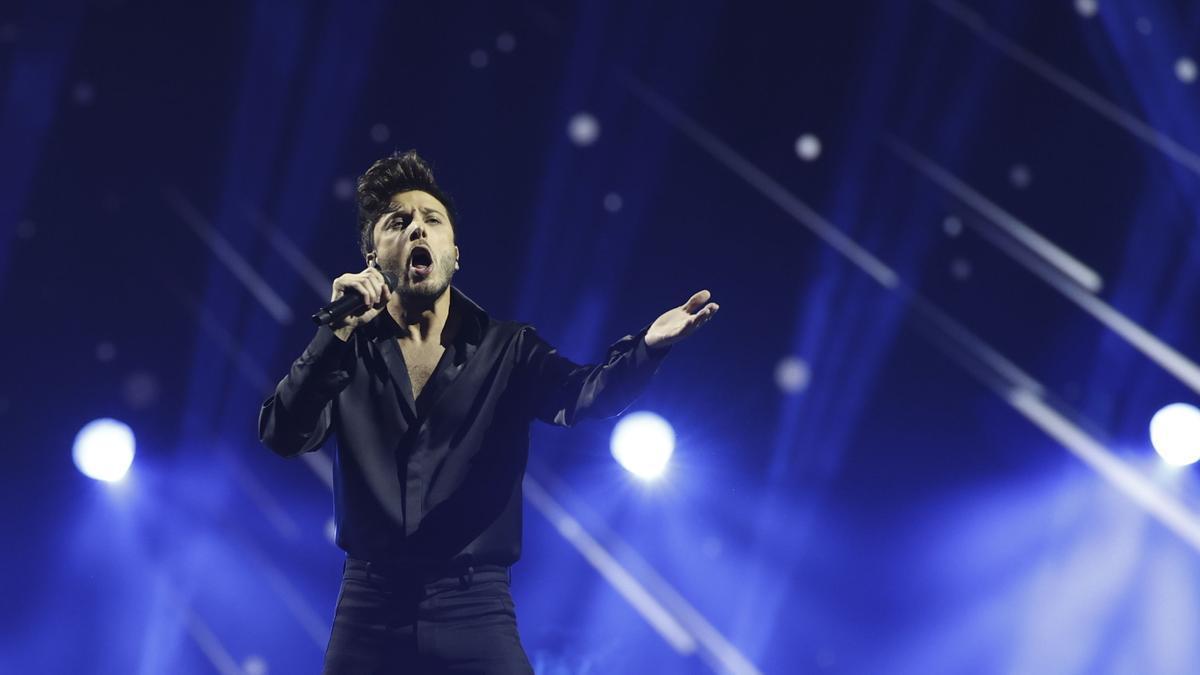 Blas Cantó, durante su actuación
