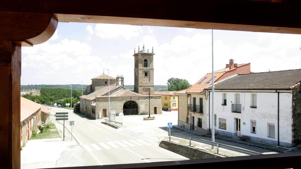 Foto de Rionegro tomada desde el albergue de peregrinos