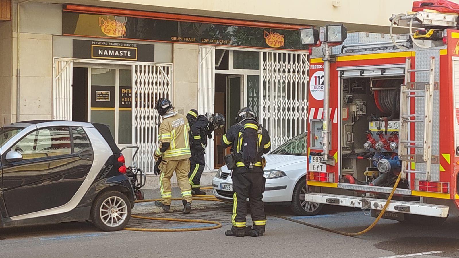 Un incendio en un local de Ibiza