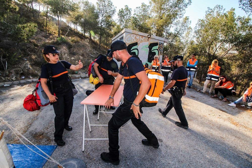 El simulacro realizado en la ermita de Montepinar