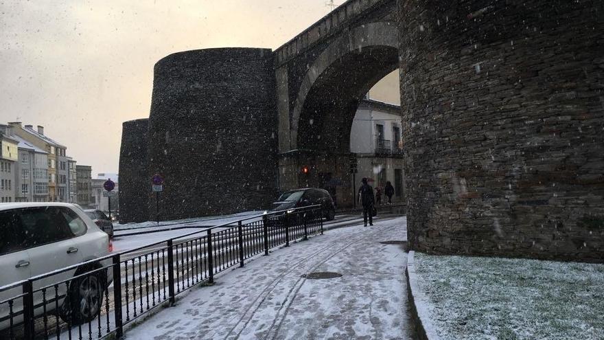 La nieve deja este viernes a 173 escolares gallegos sin clase