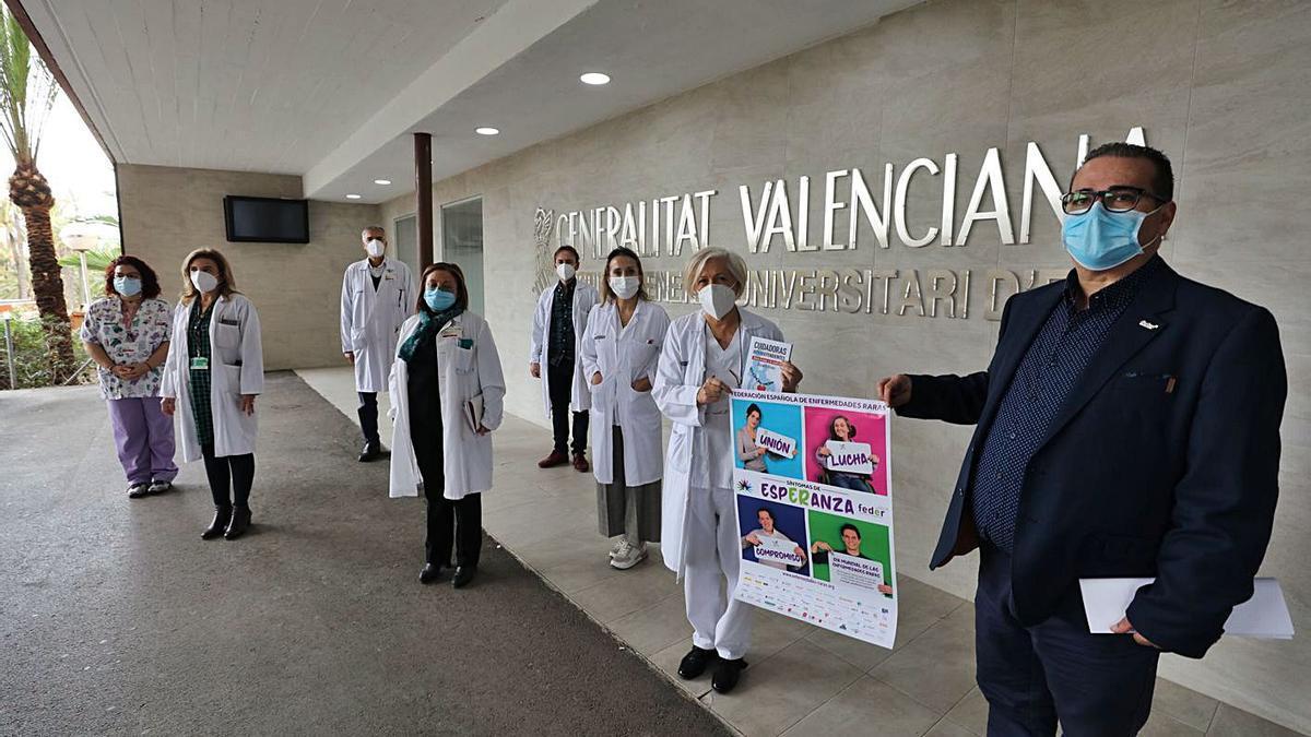 Profesionales del Hospital General que trabajan con pacientes con enfermedades raras.