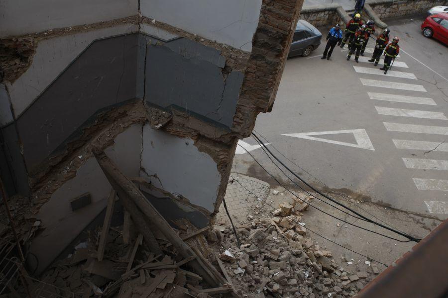 Derrumbe en plaza de la Puentica