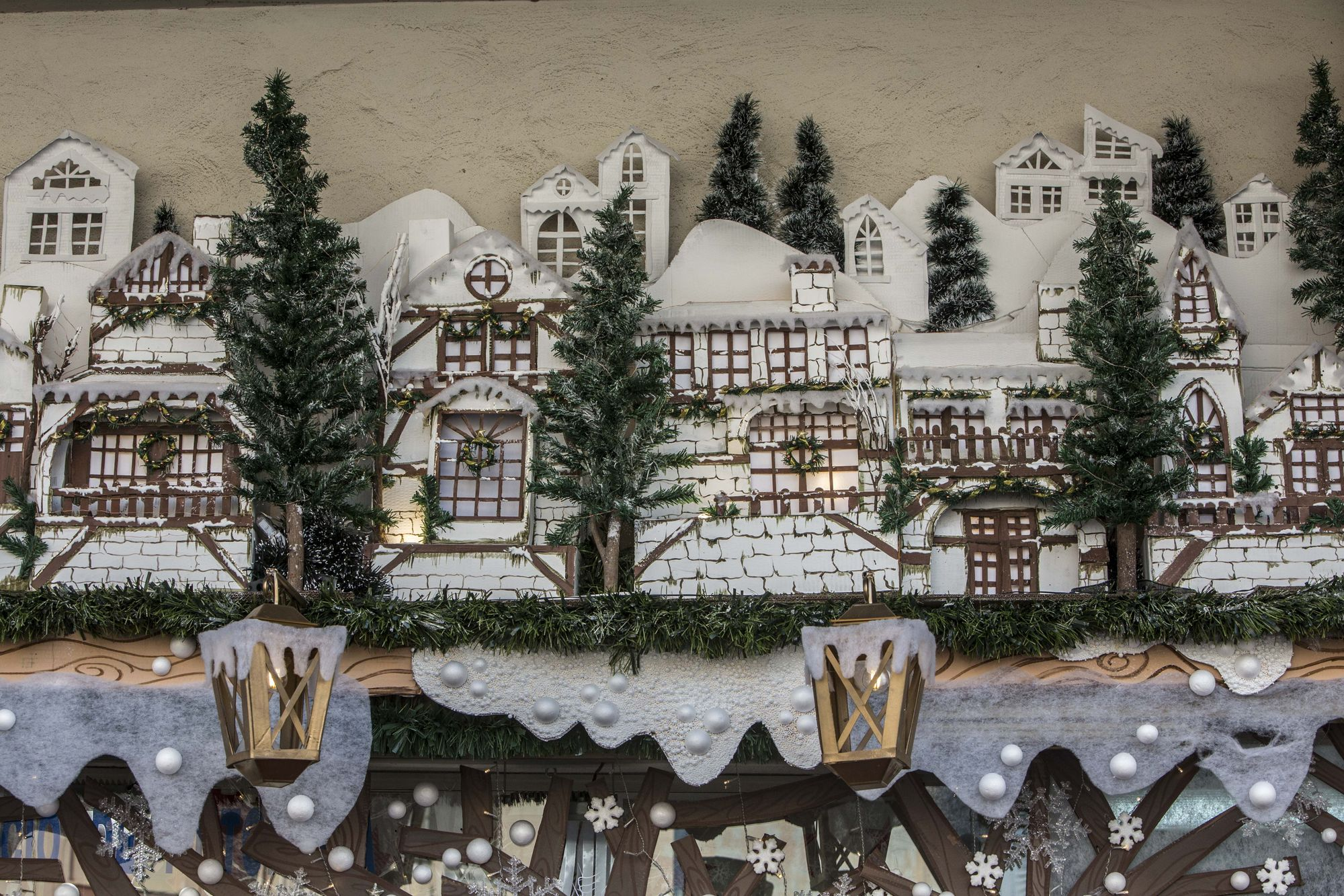 This is the decoration that has won the special prize of the Alicante Commerce Christmas contest