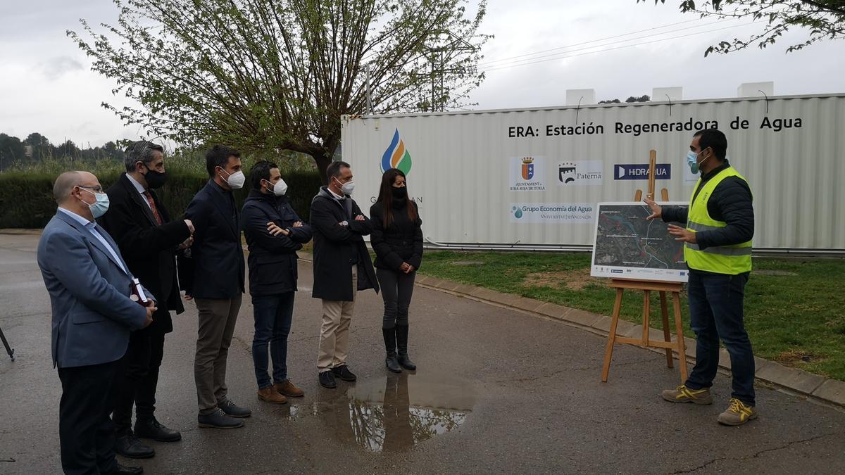 La consellera Pascual visitar la Estación Regeneradora de Agua (ERA).