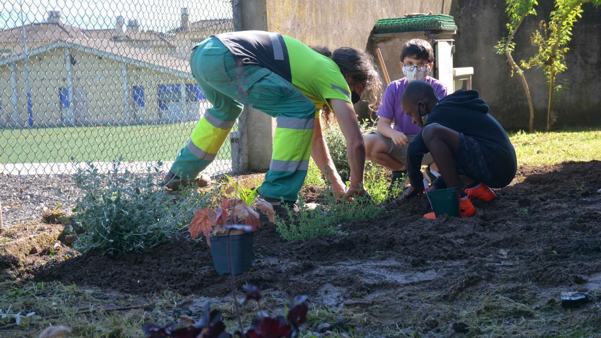 Activitat d'aquest matí a l'escola Pla de Dalt.