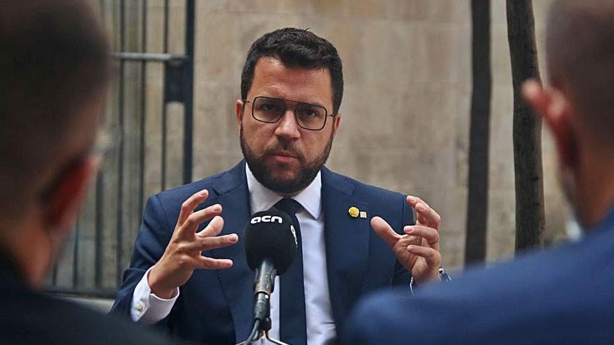 Aragonès avisa que hi haurà «moments de xoc» si no hi ha diàleg
