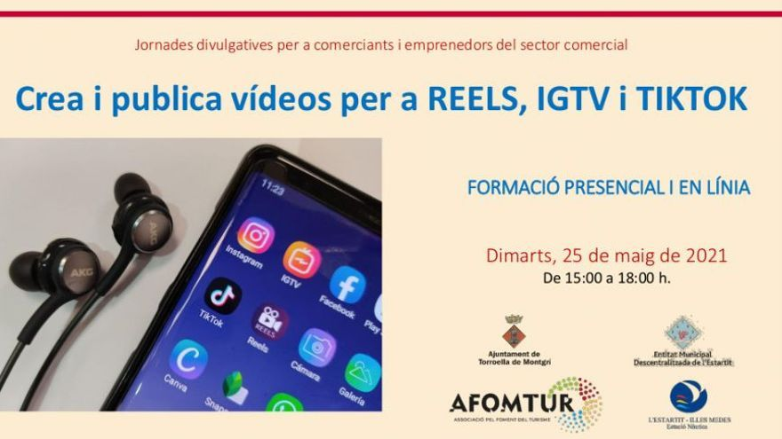 Crea i publica vídeos per Reels, IGTV i TikTok