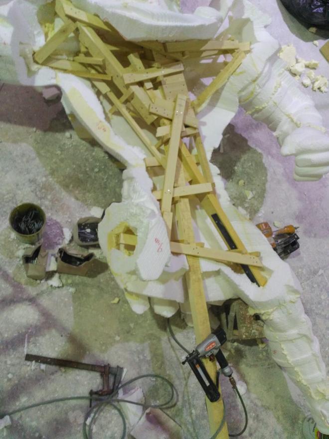 Armazón en el taller de Vicente Herrando