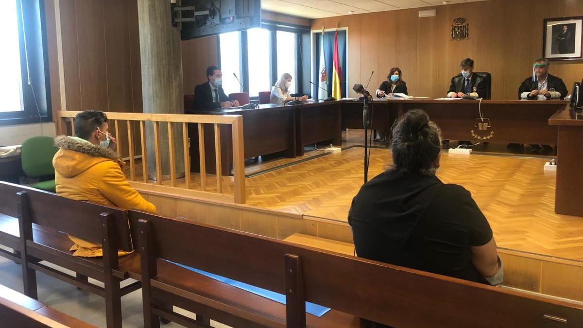 Un momento durante el juicio celebrado hoy en Vigo. // M. Fontán