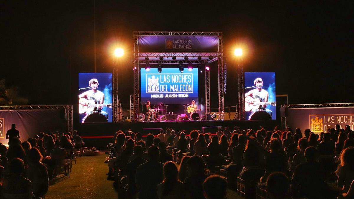 Un momento del concierto de Muchachito Bombo Infierno de la pasada edición de Las Noches del Malecón.