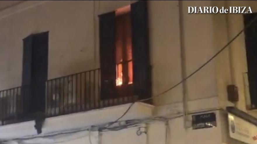 Incendio en un local de Ibiza