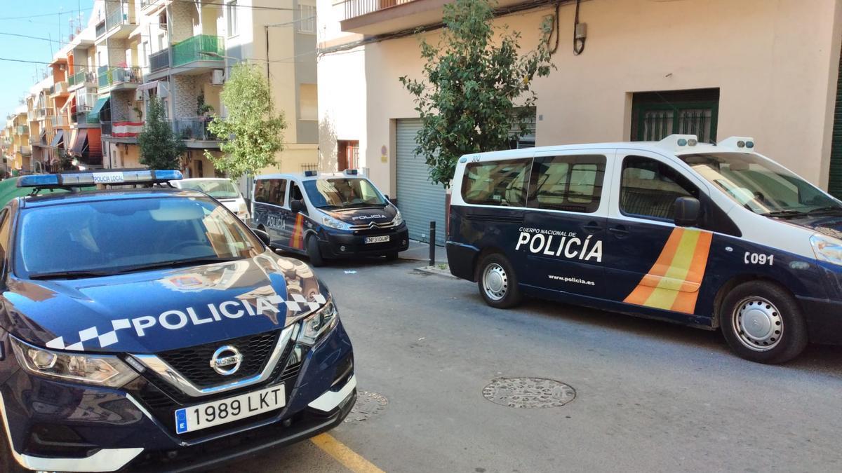 Policía Nacional y Policía Local, en la zona.