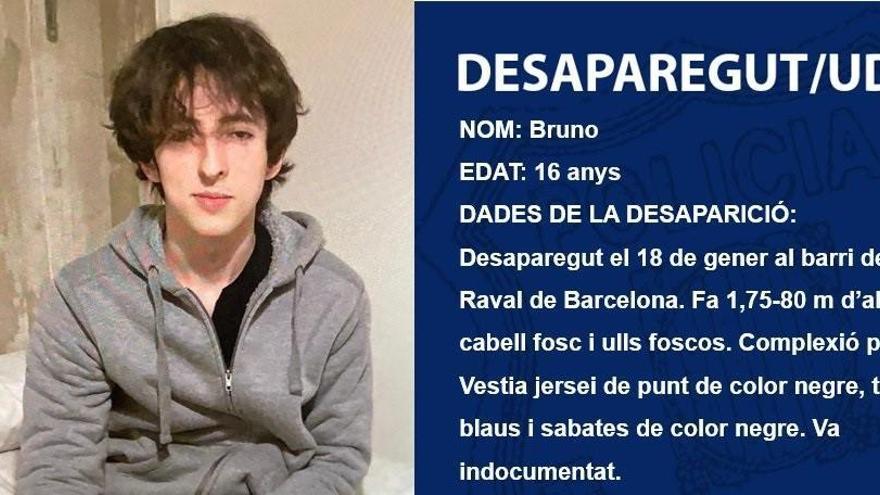 Desaparece un adolescente de 16 años en el Raval de Barcelona