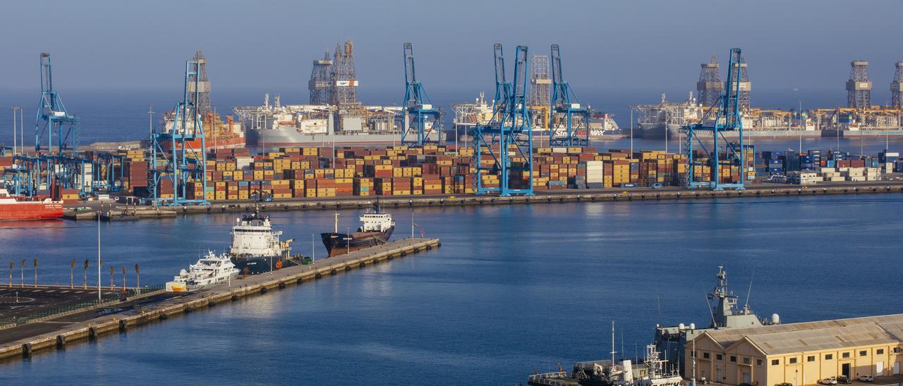 Vistas del Puerto de Las Palmas.